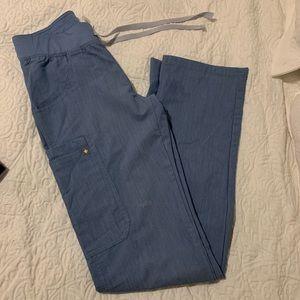 Kade Cargo Scrub Pants Heather blue XXS tall